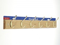Standard Coat Hook Rail - 6 Chrome Hooks