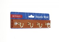 Key/Cup Hook Rail - 4 Chrome Hooks
